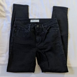 Gap skinny black jeans 25 Short!